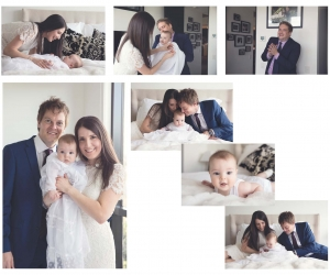 family with a baby christening photography