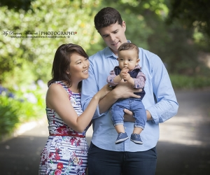 Photography of young family