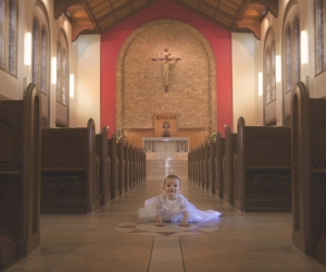 baby in a church christening photography